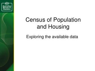Census of Population and Housing