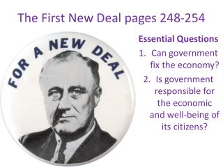 The First New Deal pages 248-254