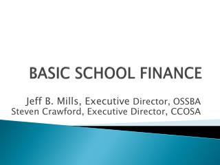BASIC SCHOOL  FINANCE