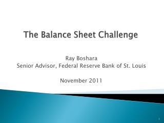 The Balance Sheet Challenge