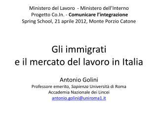 Ministero del Lavoro  - Ministero dell'Interno  Progetto  Co.In.  -  Comunicare l'integrazione Spring School , 21 april