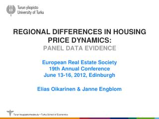 Regional differences in housing price dynamics: panel data evidence
