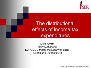 The distributional effects of income tax expenditures