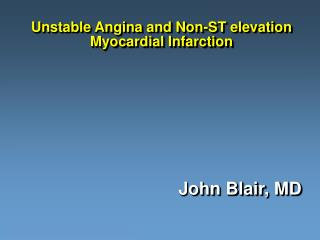 unstable angina and non-st elevation myocardial infarction