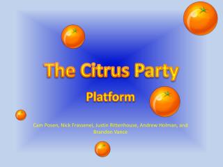 The Citrus  Party