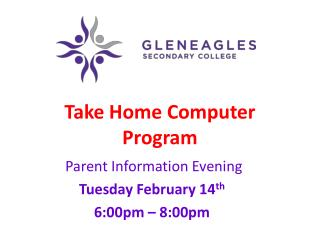Take Home Computer Program