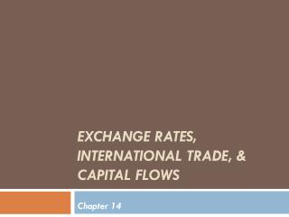 Exchange rates, international trade, & capital flows