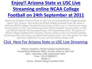 enjoy!! arizona state vs usc live streaming online ncaa