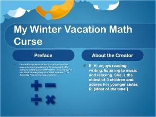 My Winter Vacation Math Curse