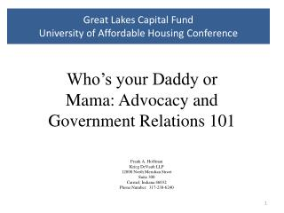 Great Lakes Capital Fund  University of Affordable Housing Conference