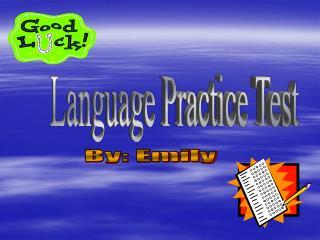 Language Practice Test