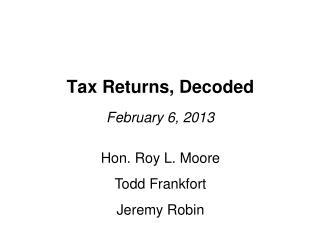 Tax Returns, Decoded