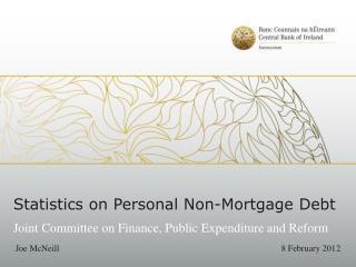 Statistics on Personal Non-Mortgage Debt