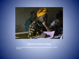 Women & Climate Change