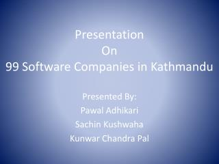 Presentation On 99 Software Companies in Kathmandu
