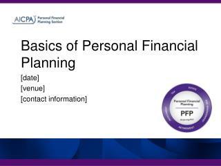 Basics of Personal Financial Planning