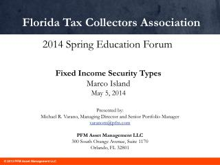 Fixed Income Security Types Marco Island May 5, 2014