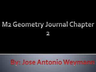 M2 Geometry Journal Chapter 2