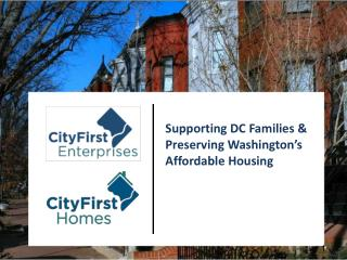 Supporting DC Families  & Preserving Washington's Affordable Housing