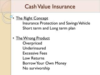 Cash Value Insurance