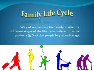 Way of segmenting the family market by different stages of the life cycle to determine the products (g & s) that people