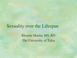 sexuality over the lifespan