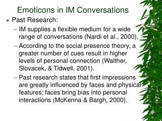 emoticons in im conversations