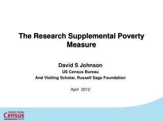 The Research Supplemental Poverty Measure