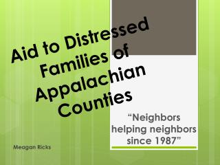 Aid to Distressed Families of Appalachian Counties
