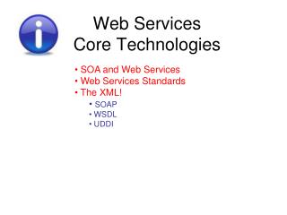 Web Services Core  Technologies
