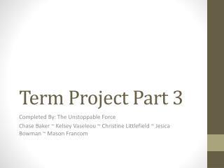 Term Project Part 3