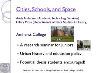 Cities, Schools, and Space