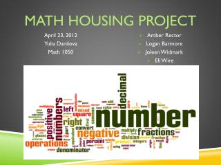 Math Housing Project