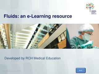 Fluids: an e-Learning resource