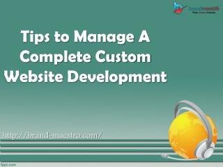Tips to Manage a Complete Website Development