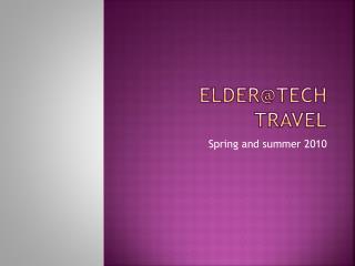 Elder@tech travel