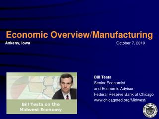 Economic Overview/Manufacturing
