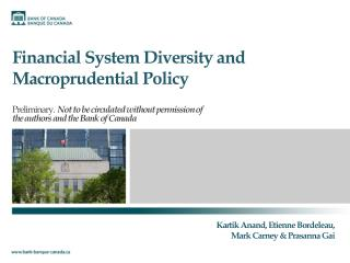 Financial System Diversity and  Macroprudential  Policy