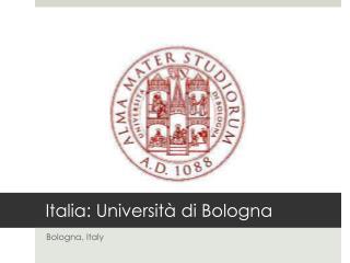 Italia:  Università  di Bologna