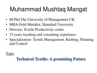 Muhammad Mushtaq Mangat