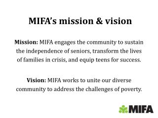 MIFA's mission & vision
