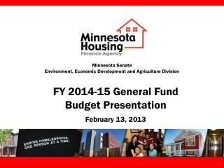 Minnesota Senate Environment, Economic Development and Agriculture Division