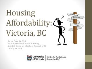 Housing Affordability: Victoria, BC