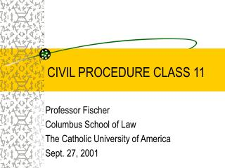 civil procedure class 11