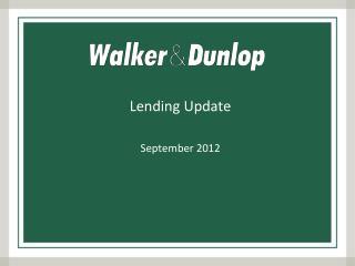 Lending Update September 2012