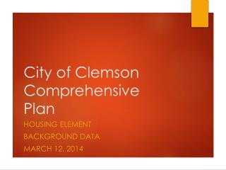 City of Clemson Comprehensive Plan