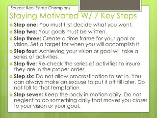 Staying Motivated W/ 7 Key Steps