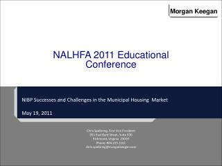 NIBP Successes and  Challenges  in  the Municipal Housing  Market May 19, 2011