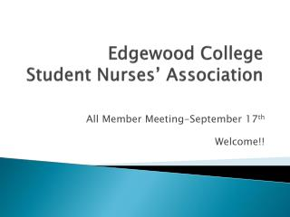 Edgewood College Student Nurses� Association