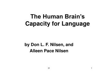 the human brain s capacity for language